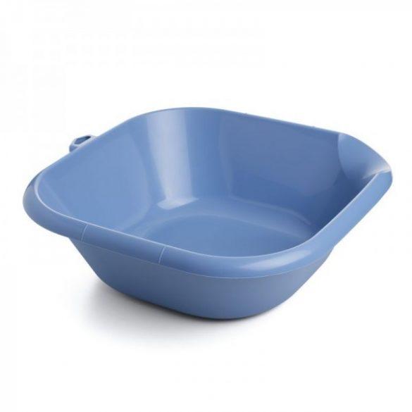 Mosótál, szögletes, kék, 12 liter