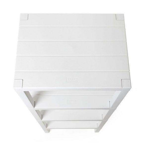 LOMBOK 4 emeletes polc, fehér