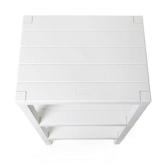 LOMBOK 3 emeletes polc, fehér