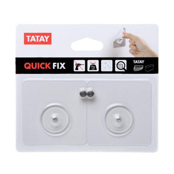 QUICKFIX fúrást helyettesítő fali rögzítő szett, öntapadó