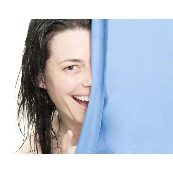 Zuhanyfüggöny, kék