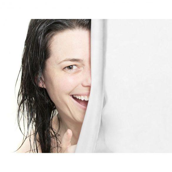 Zuhanyfüggöny, fehér