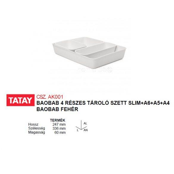 BAOBAB 4 részes tároló szett, fehér