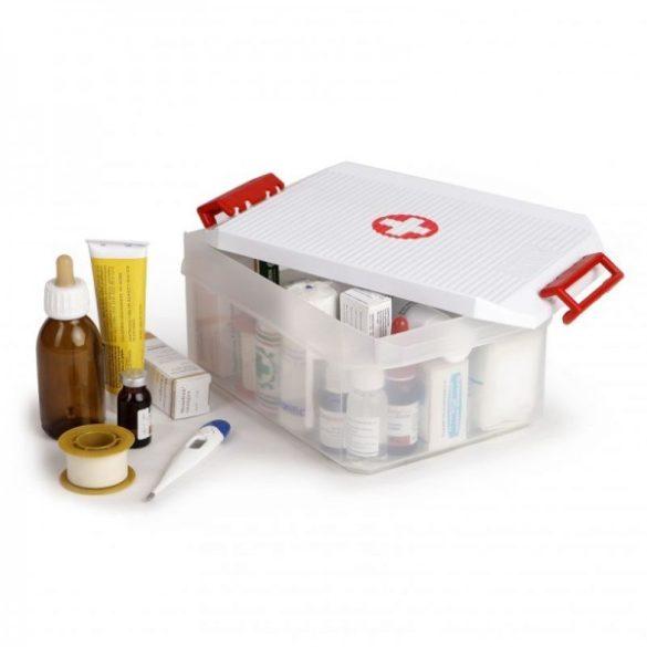 Gyógyszeres doboz, biztonsági záras tetővel, 4,5 liter