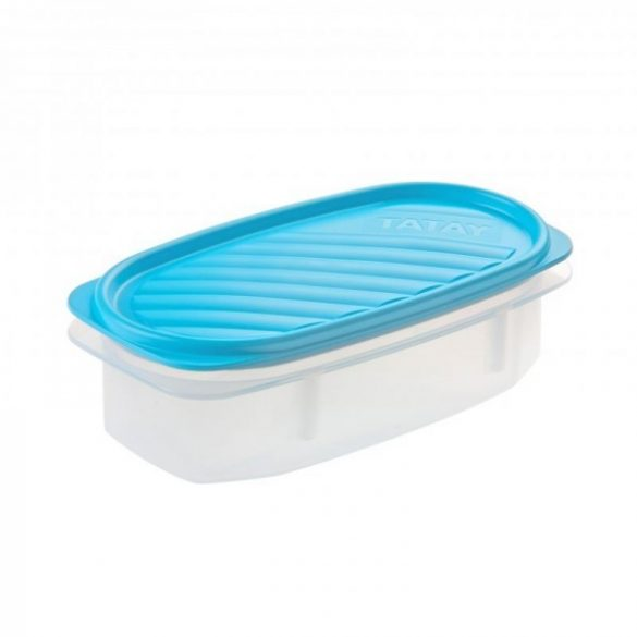 TOP FLEX frissentartó doboz, kék tetővel, 0,5 liter