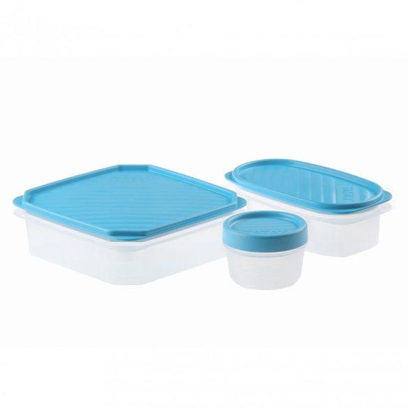 TOP FLEX frissentartó doboz szett kék tetővel, 3 részes