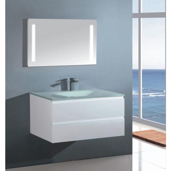 CUBE 70 függesztett mosdóhely, üvegmosdóval