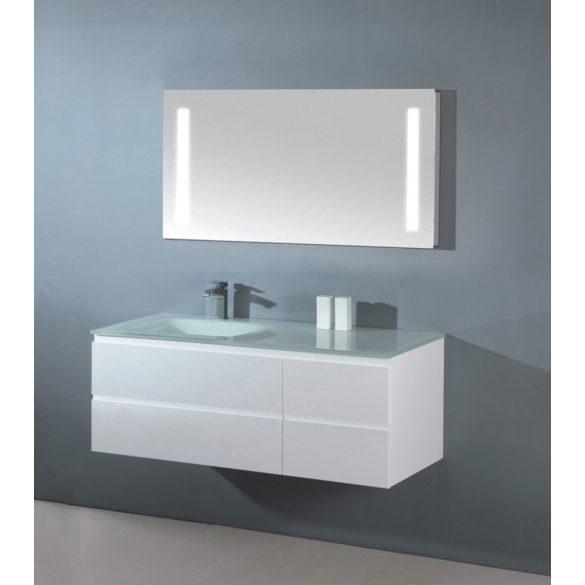 CUBE 100 függesztett mosdóhely, üvegmosdóval