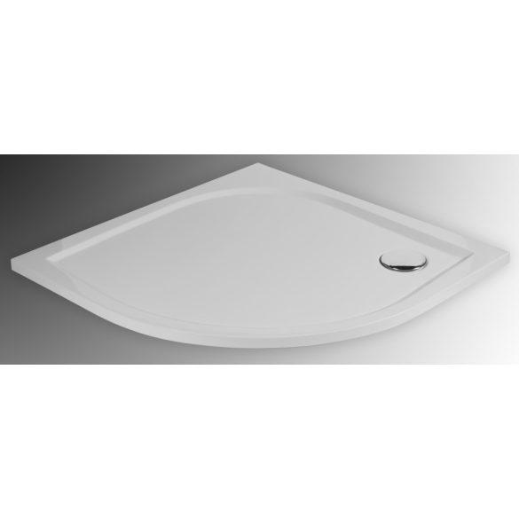 DITA íves öntött márvány zuhanytálca, 80 cm