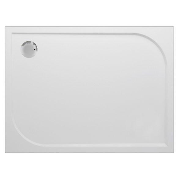 VIVA aszimmetrikus öntött márvány zuhanytálca, 80×120 cm