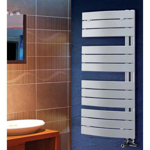 PIEVE fürdőszobai fűtőtest, íves, fehér, 500 W