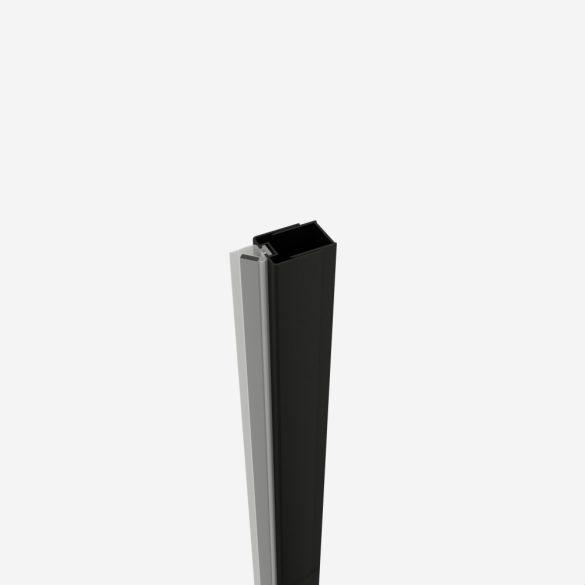 Fali fogadó profil zuhanyajtókhoz, fekete (3-4,5 cm)