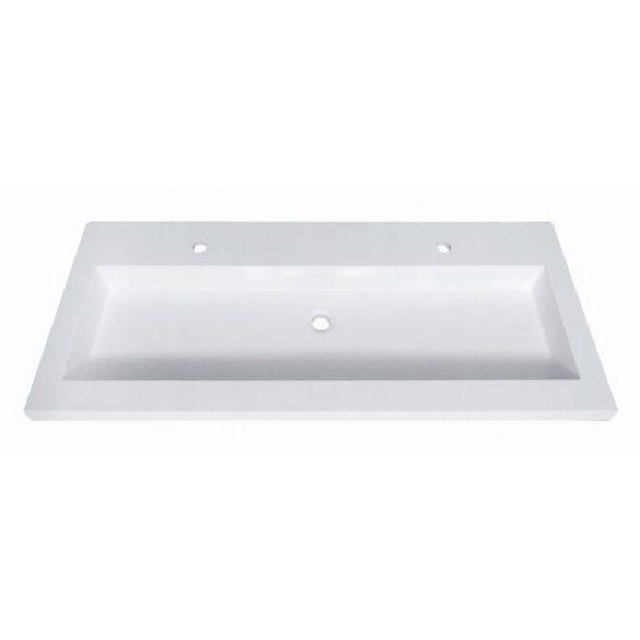 Öntött márvány mosdó, ráépíthető, dupla