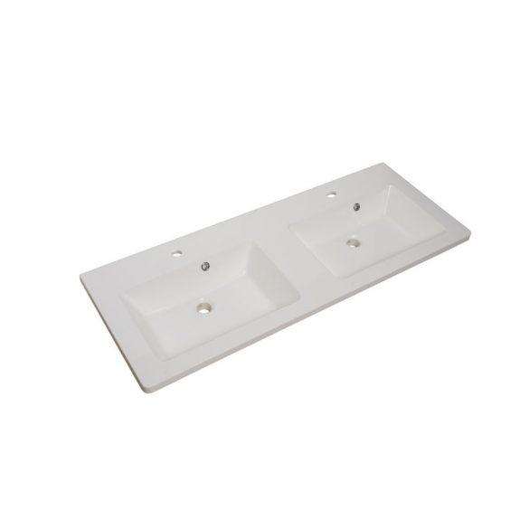 Öntött márvány mosdó, ráépíthető, dupla (kétmedencés)