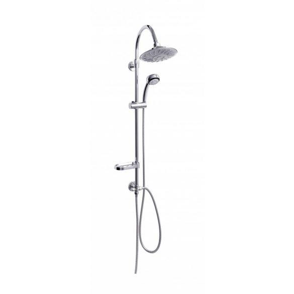 Sínes zuhanyszett LED-es esőztető fejzuhannyal