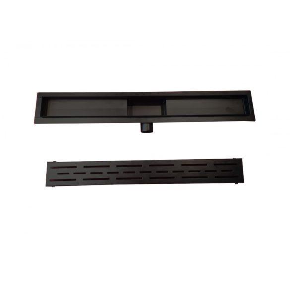 Zuhanyfolyóka, fekete, 60 cm