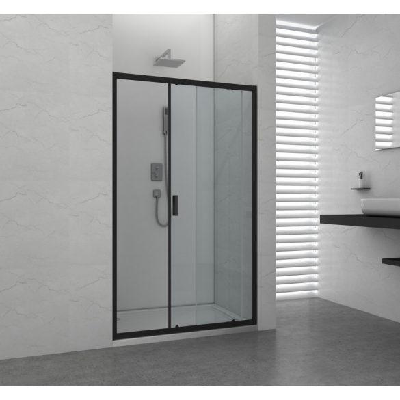 ELITE BLACK tolóajtó épített zuhanyfülkéhez