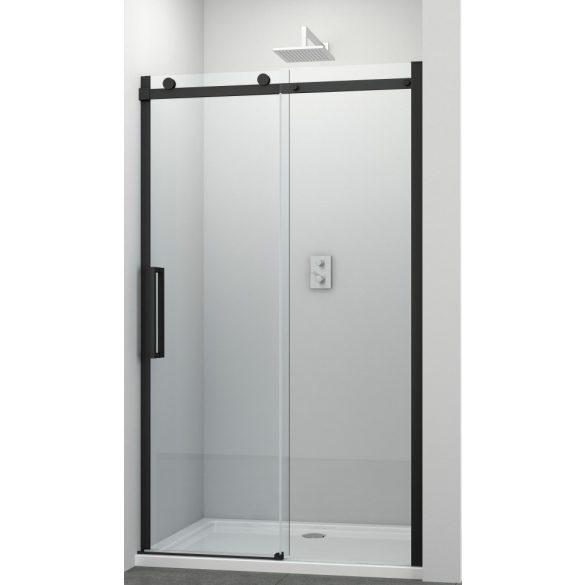 COMFORT BLACK tolóajtó épített zuhanyfülkéhez
