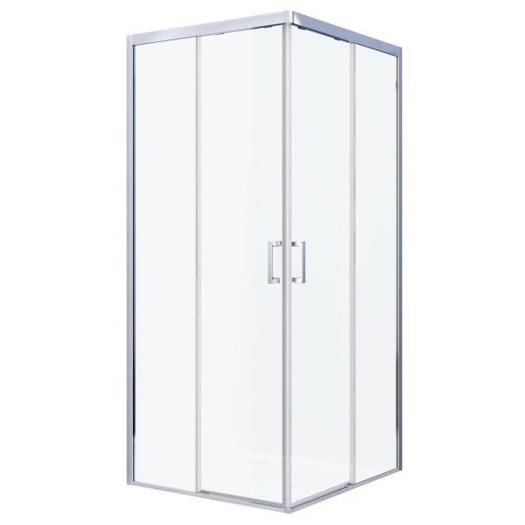 ELITE DELUXE szögletes sarok zuhanykabin két tolóajtóval
