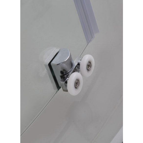 ELITE szögletes sarok zuhanykabin két tolóajtóval