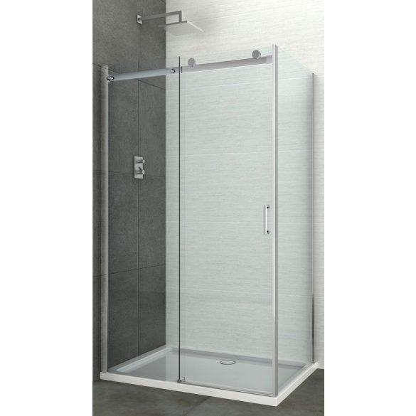 ELITE aszimmetrikus szögletes sarok zuhanykabin tolóajtóval