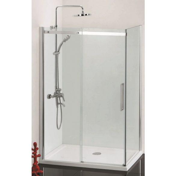 COMFORT aszimmetrikus szögletes sarok zuhanykabin tolóajtóval