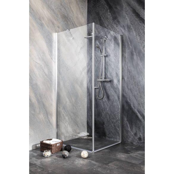 BRAVA II szögletes sarok zuhanykabin lengőajtóval
