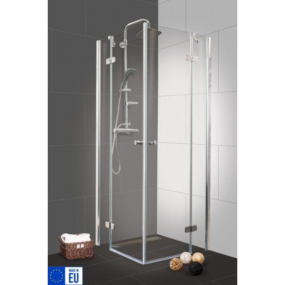 DUET I szögletes sarok zuhanykabin két csuklóajtóval
