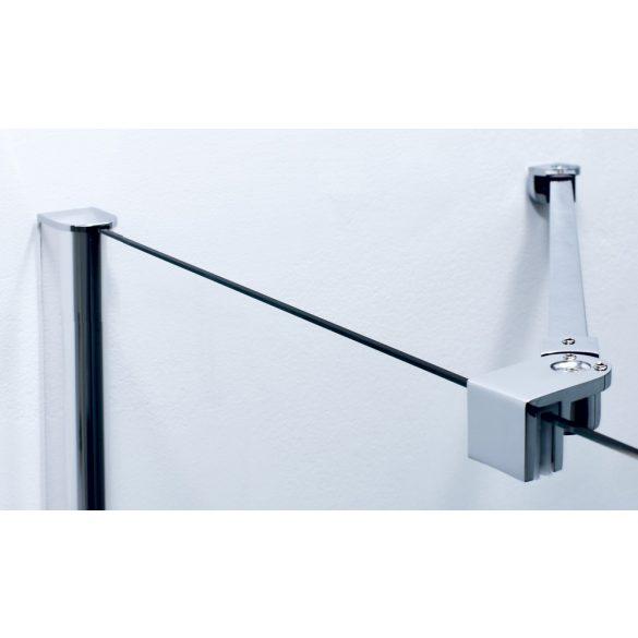 DUET II szögletes sarok zuhanykabin csuklóajtóval, balos kivitel