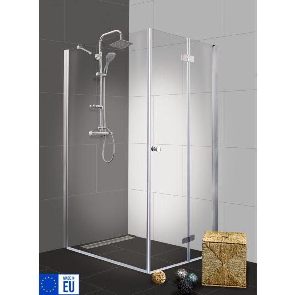 DUET II szögletes sarok zuhanykabin csuklóajtóval, jobbos kivitel
