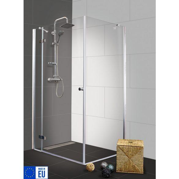SYMPHONY II szögletes sarok zuhanykabin osztott nyílóajtóval, balos kivitel