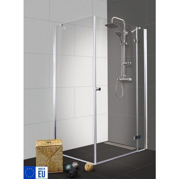 SYMPHONY II szögletes sarok zuhanykabin osztott nyílóajtóval, jobbos kivitel