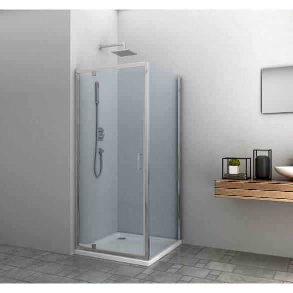 ELITE szögletes sarok zuhanykabin pivot ajtóval