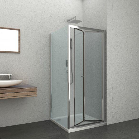 ELITE szögletes sarok zuhanykabin csuklóajtóval