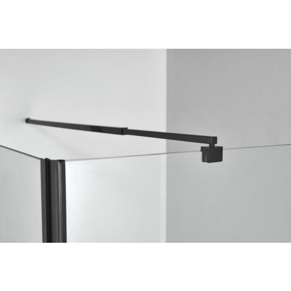 ELITE BLACK szögletes sarok zuhanykabin lengőajtóval