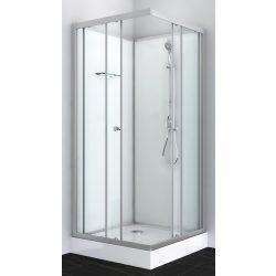 FORTE 1 komplett zuhanykabin, szögletes, króm