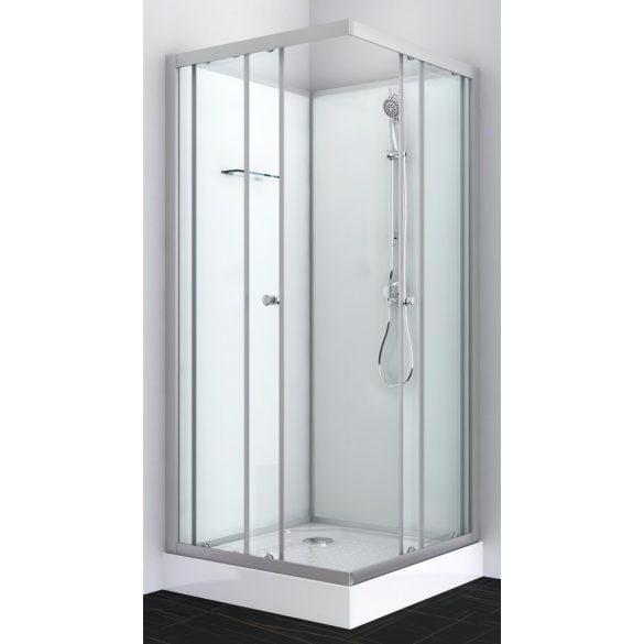 FORTE 2 komplett zuhanykabin, szögletes, króm