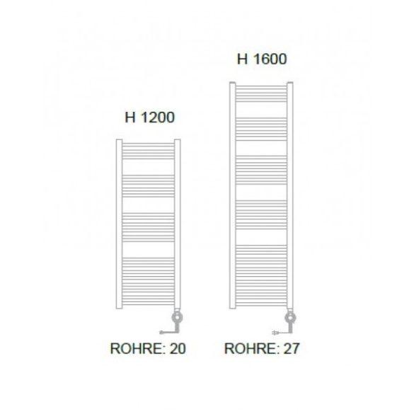 E-BARI fürdőszobai fűtőtest, egyenes, fehér, 600 W