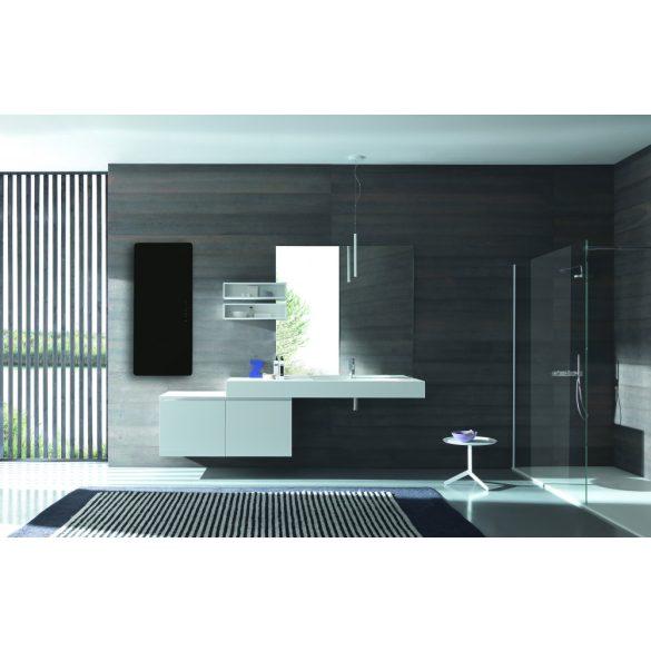 E-MIRROR fürdőszobai fűtőtest, fekete, 100 x 50 cm