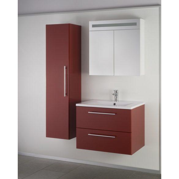 FIORA 70  függesztett mosdóhely, bordó, kerámiamosdóval