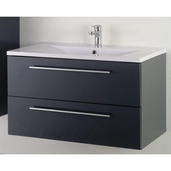 FIORA 90 függesztett mosdóhely, antracit, kerámiamosdóval
