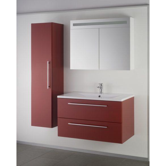 FIORA 90 függesztett mosdóhely, bordó, kerámiamosdóval
