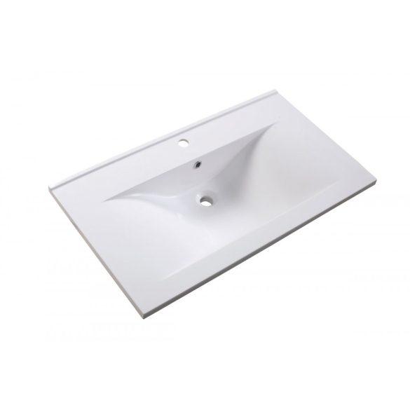 FIORA 90 függesztett mosdóhely, fehér, kerámiamosdóval