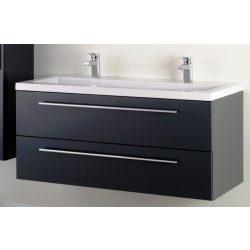 FIORA 120 függesztett mosdóhely, antracit, kerámiamosdóval