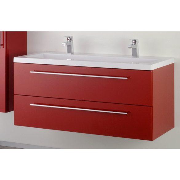 FIORA 120 függesztett mosdóhely, bordó, kerámiamosdóval