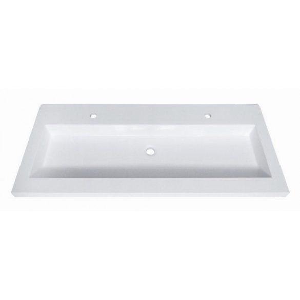 FIORA 120 függesztett mosdóhely, fehér, kerámiamosdóval