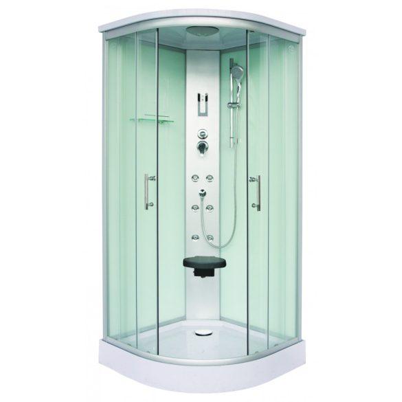 SCALA hidromasszázs zuhanykabin, fehér