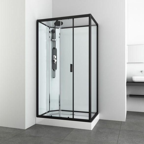 EPIC 3 hidromasszázs zuhanykabin tolóajtóval, aszimmetrikus
