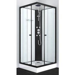 STIL 1 hidromasszázs zuhanykabin, szögletes, fekete