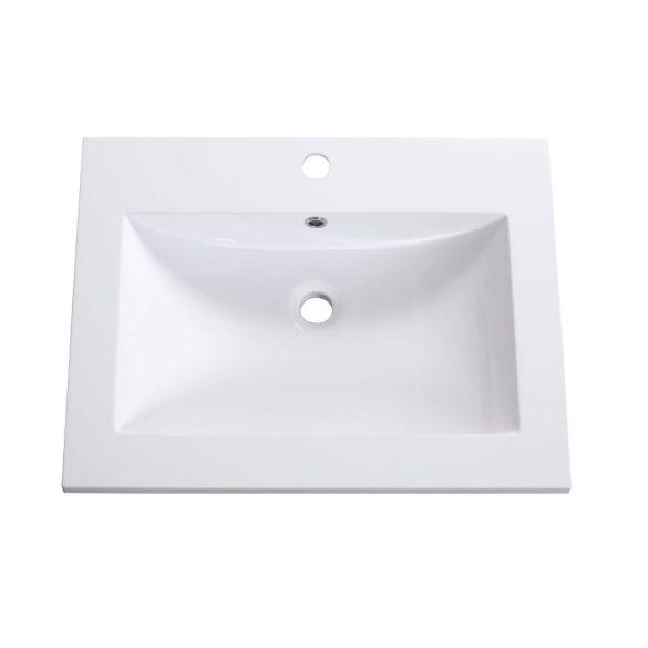STELLA 60 függesztett mosdóhely, antracit, kerámiamosdóval
